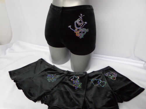 Girls Gymnastic shorts Personalised with Name /& Olaf By Selani All sizes