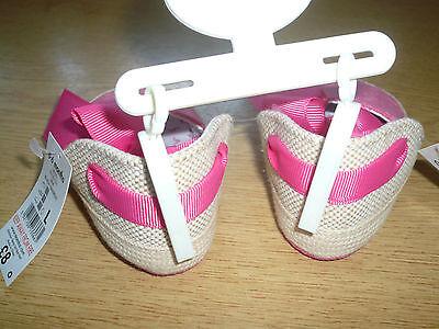 BNWT M & Co Zapatos Sandalias/Cochecito de Niño Chicas ~ ~ 0-6 meses de edad Alpargata Estilo
