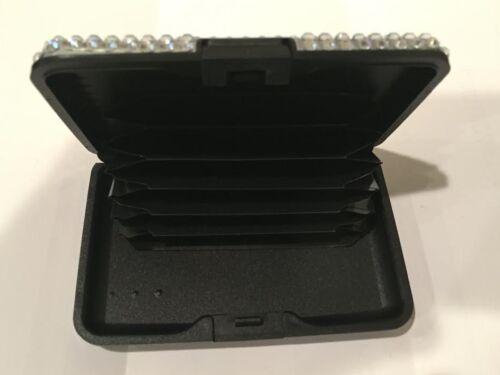 Aluminum Identity Protection Credit Card Case RFID Blocking Wallet White