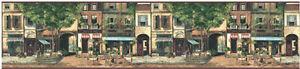 Paris-Cafe-Street-Scene-Mural-Style-Wallpaper-Border-by-York-BG3201B