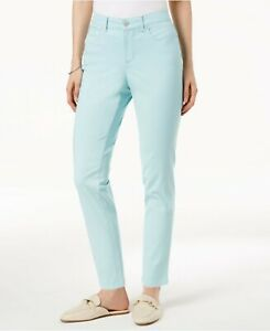 Charter-Club-Skinny-Ankle-Jeans-Tummy-Slimming-Aqua-Blue-Bristol-Womens-Sz-6-10
