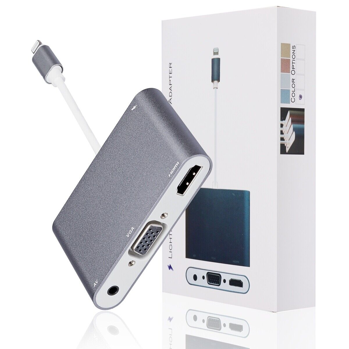 Apple Lightning Digital AV Adapter to HDMI Port iPhone iPad MD826AM//A NEW OP