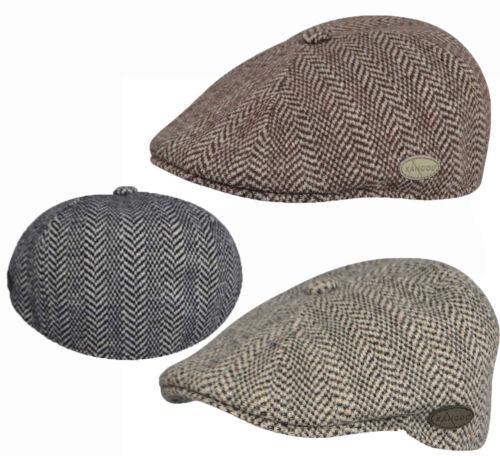 M KANGOL New Mens Herringbone 507 Ivy Caps /& Flat Caps K1221CO Sizes  S XL L