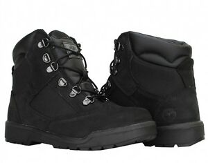 Kid-039-s-Timberland-6-034-Field-Boots-Youth-GS-All-Black-Nubuck-44990