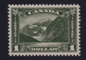 Canada Sc #177 (1930) $1 dark olive Mount Edith Cavell Mint VF H
