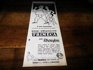 TRIMECA-SOUS-VETEMENTS-Publicite-de-presse-Press-advert-1957