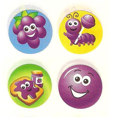 CUTE Sandylion Vintage Stickers *SCRATCH /& SNIFF GRAPE* Square Module RARE