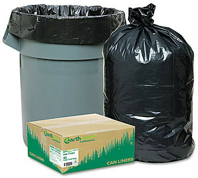 New 80 Large 33 Gallon Commercial Trash Can Bags Heavy Garbage Duty Yard, EarthS