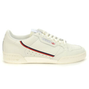 Adidas Men's Continental 80 White Tint/Off White/Scarlet Sneakers B41680 NEW