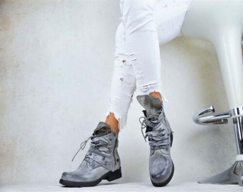Nouveau Chaussures Femmes CREATEUR Bottes Motard Bottines Rivets Doublure