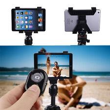 "1/4"" Tripod Adapter Mount Holder +Bluetooth Remote Shutter For iPad mini 2 3 Air"
