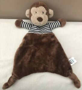 Jellycat-Stripey-Monkey-Soother-Comforter-Baby-Soft-Toy-Brown-Navy-Stripe