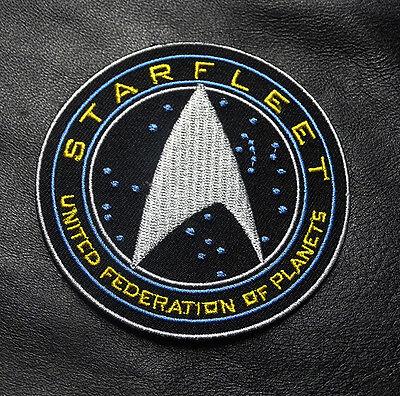 STARFLEET COMMAND UFO PLANETS STAR WARS 3.0 INCH IRON ON  PATCH