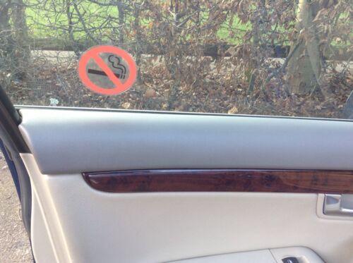 10 X clara del vinilo no fumar Pegatinas visible a ambos lados sobre el vidrio de mejor calidad
