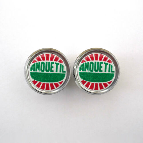 Vintage Style Jacques Anquetil Chrome Racing Bar Plugs Repro Caps