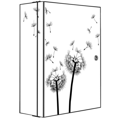 banjado Hausapotheke Metall grau Schrank Medizin abschließbar  Pusteblume 2
