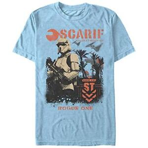 Officially Licensed Star Wars Rogue One Unisex Gray T Shirt Scarif Shore Trooper