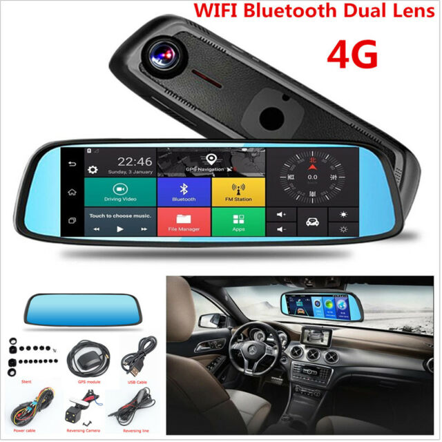 Buy 1080p 4g Ips Car Dvr Camera Rearview Mirror Gps Bluetooth Wifi