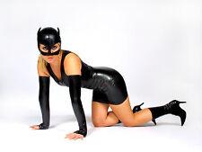 NEW Black Latex Rubber Cat Mask (ENGLISH) S M L XL