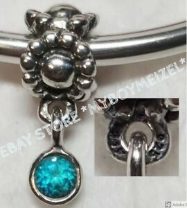 b99661eee Image is loading Authentic-Pandora-Blue-Dew-Drop-Dangle-Charm-790386TPP-