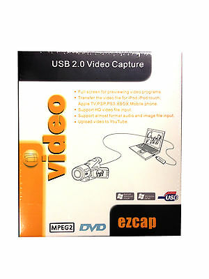 EZCAP116 USB 2.0 Video Capture for XP,Vista,Windows 7/8 32bit/64bit PS3 Xbox360