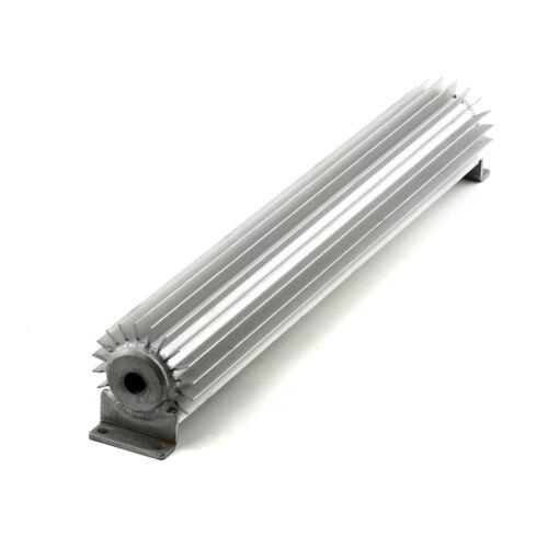 """18/"""" Silver Anodized Single Pass Transmission Oil Cooler With Fittings"""