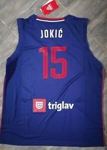 NIKOLA JOKIC SERBIA Official  Jersey BLUE NEW with tag L SIZE