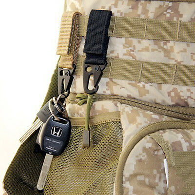Tactical Hanging Belt Carabiner KeyHook Webbing Buckle Strap Clip Backpack Pip