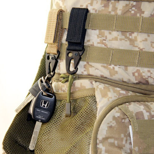 Tactical Hanging ceinture mousqueton porte-agrafe sangle boucle clip sac à dos t