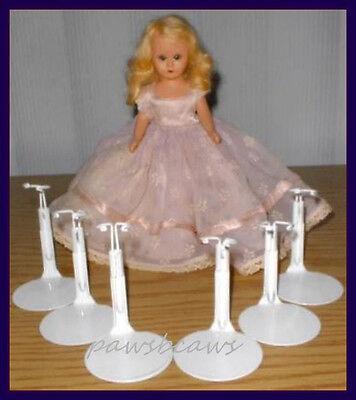 "3 Slim Wst Doll Stands~NEW Kaiser #1101 WHITE 6/""-7/"" tall dolls BISQUE /& ANTIQUE"