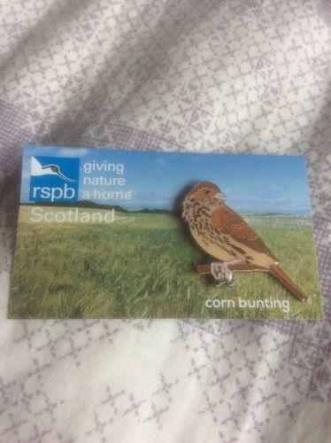 RSPB Pin Badge Corn Bunting Scotland