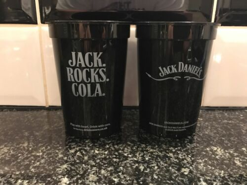 5 JACK /& COLA  HARD PLASTIC BEAKERS NEW FROM THE UK FROM 2015