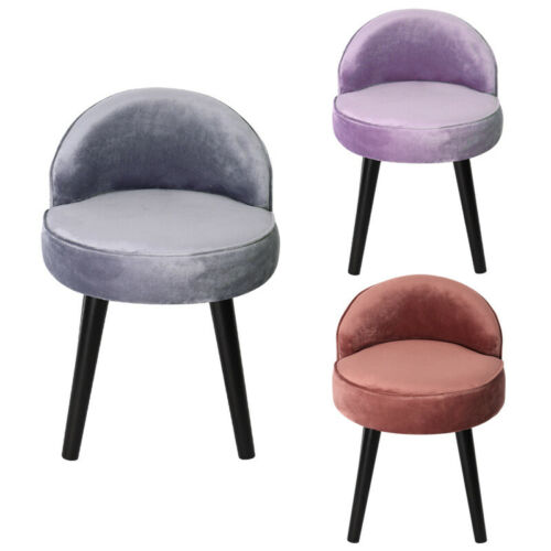 European Style Dressing Stool Back Makeup Chair Bedroom Padded Chair Shoes Stool Light Grey,Dusty Pink,Purple