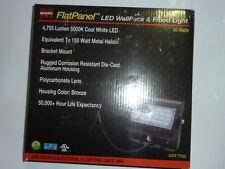 NEW Morris Products FLat Panel LED Wall Pack Flood Light Bronze Housing 50 watt