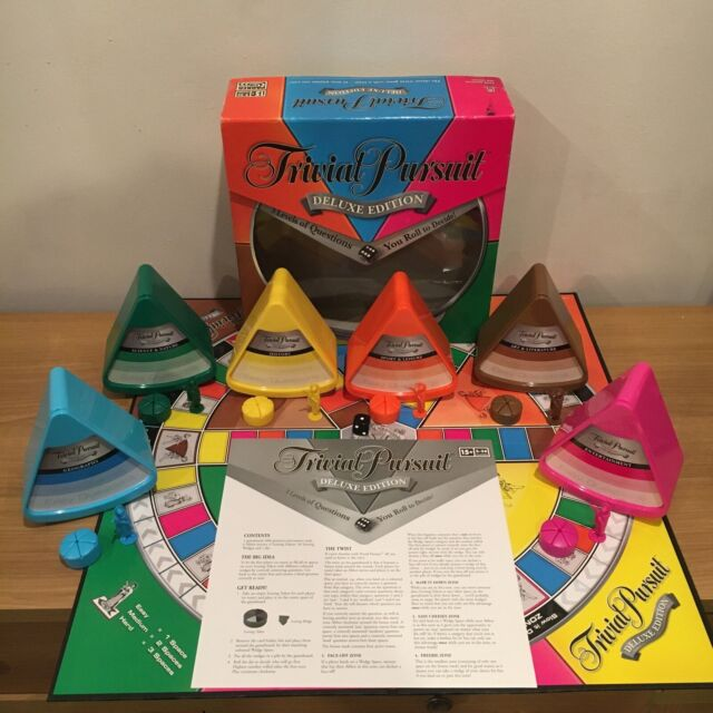 Trivial Pursuit Deluxe Edition Board Game-Parker-100% Compete Excellent Conditio