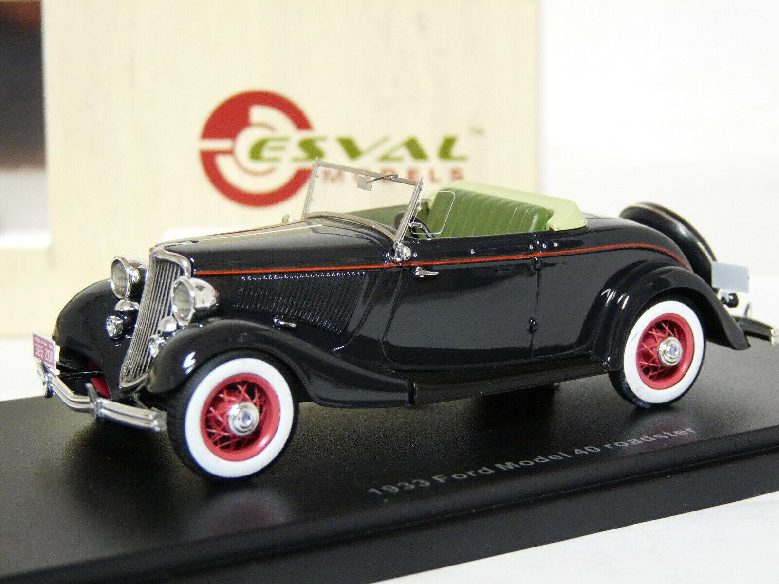 Esval EMUS43074A 1  43 1933 Ford Förlaga 40 Roadster hkonsts modellllerlerl Bil