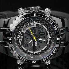 Infantry Mens LED Digital Analog Wrist Watch Stopwatch Sport Military Rubber