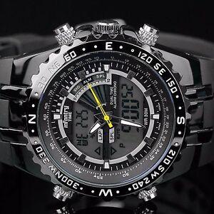INFANTRY-Mens-LED-Digital-Analog-Wrist-Watch-Stopwatch-Sport-Military-Rubber
