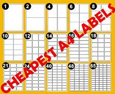 Labels Self Adhesive Sticky A4 Address Labels Inkjet Laser Copier Printer Peel