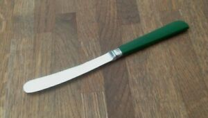 VINTAGE-CUTLERY-BUTTER-KNIFE-SILVER-PLATED-amp-FAUX-PLASTIC-SIZE-6-6-034-JA31