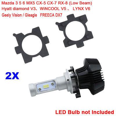 2Pcs H7 LED Headlight Bulb Base Adapter Retainer Holder For Mazda CX5 CX7 Freeca