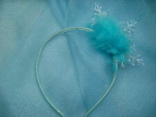 Frozen Elsa Hairband Hairband White Large Snowflake And Marabou Feather Trim