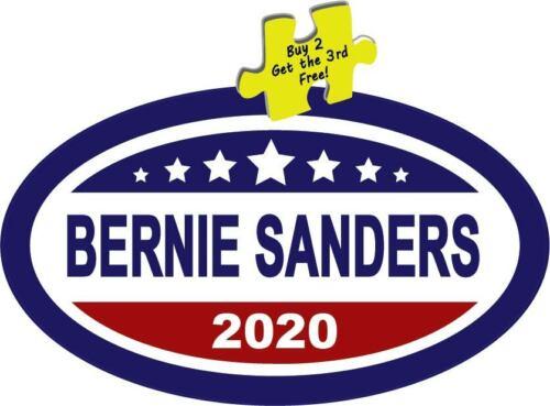 "Bernie Sanders 2020 President Oval Decal Sticker 3.25/"" x 5.5/"" #516"