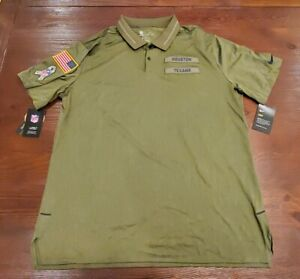 f795e137 Details about HOUSTON TEXANS Nike 2018 Salute to Service Sideline Polo XL  Olive Green NWT