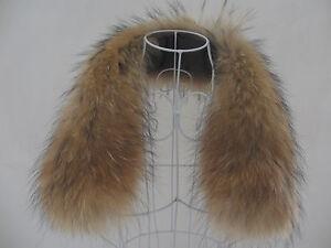 Kragen-Pelzkragen-Pelz-Fell-Echtpelz-Raccoon-passt-zu-Jacken-Mantel-NEU