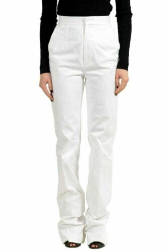 It Gamba Pantaloni 38 Xs Dsquared2 Usa Casual Dritta Bianco Donna SxagO