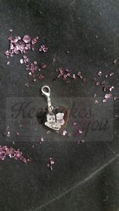 Personalised Photo Engraved Stainless Steel Heart Charm /& Clasp attachment