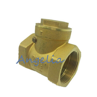 Non-Return Valve 1pc DN25 Female Thread Brass Non-Return Actuator Check Valve 232PSI Prevent Water Backflow