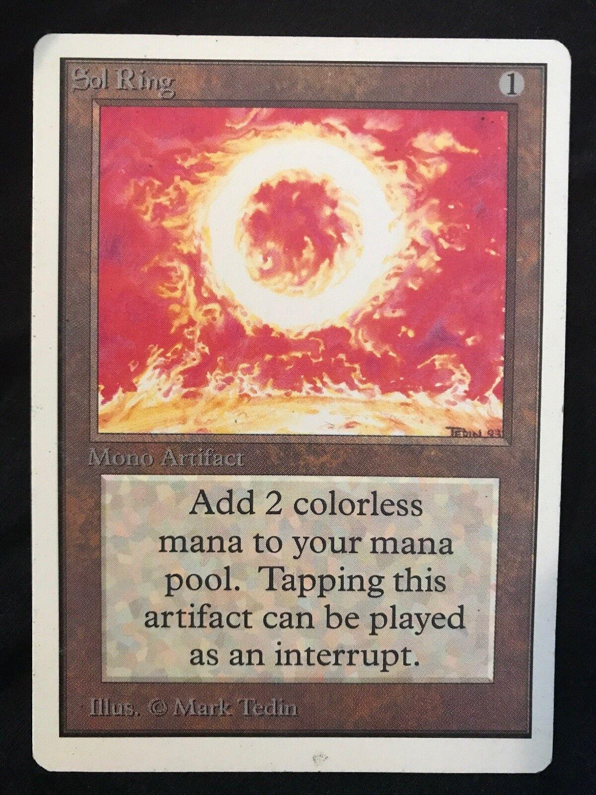 X1 sol ring unlimited (gespielt) mtg - commander - old - school - artefakt