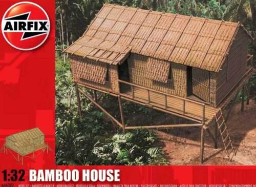 Airfix Bamboo House Bambushaus Jungle Tropenhaus 1:3 2 Model Kit Tip Set